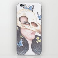 crow iPhone & iPod Skins featuring Crow by Drawings by LAM