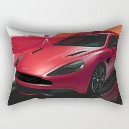 Aston Martin Vanquish S Digital Painting   Automotive   Car Rectangular Pillow