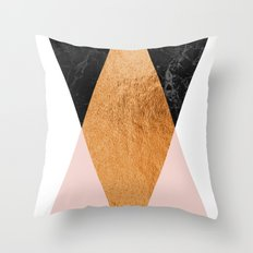 Copper Pink Geo Throw Pillow