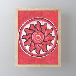 Fire Mandala Framed Mini Art Print