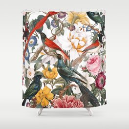 Floral and Birds XXXV Shower Curtain