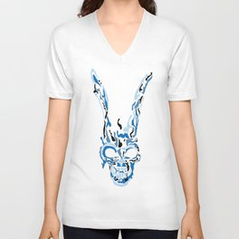 Donnie Darko Frank(Blue & Black) Unisex V-Neck