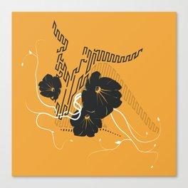 Untitled Art - Orange Canvas Print