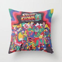 Street Fighter Clown Edition Throw Pillow