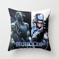 robocop Throw Pillows featuring Robocop by store2u