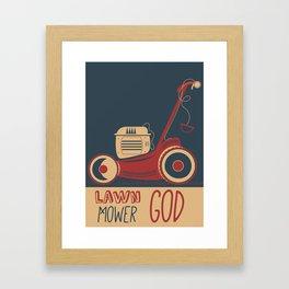 Lawn Mower God Framed Art Print