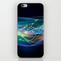 data iPhone & iPod Skins featuring Data Transmission by Tom Lee