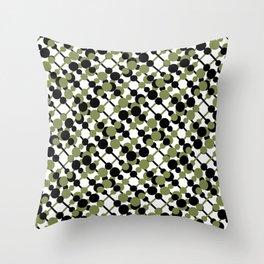 letve (green/black) Throw Pillow