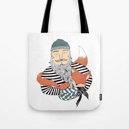 Man and fox. Tote Bag