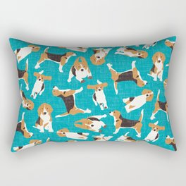 beagle scatter blue Rectangular Pillow