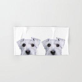 Schnauzer original Dog original painting print Hand & Bath Towel