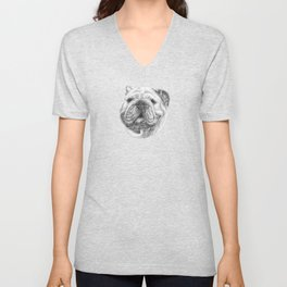 English bulldog Unisex V-Neck