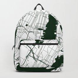 New York City White on Green Street Map Backpack