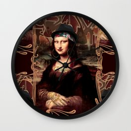 Chicana Mona Lisa Wall Clock