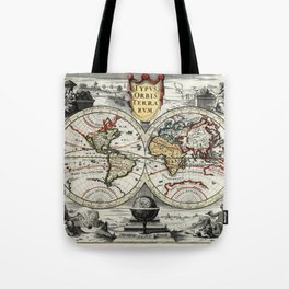 World Map 1758 Tote Bag