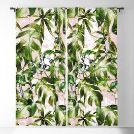 Jungle botanical succulent Blackout Curtain