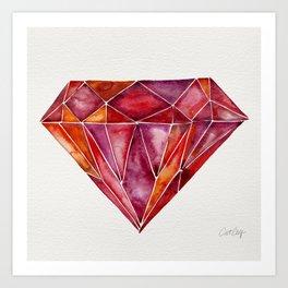 Million-Carat Ruby Art Print