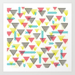 Wild Triangles Art Print