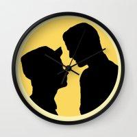 klaine Wall Clocks featuring Klaine Zig Zag by byebyesally