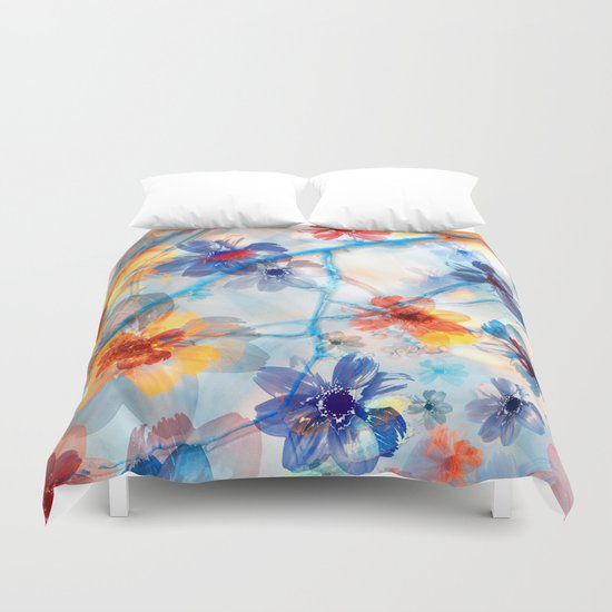 Floral abstract(37). Duvet Cover