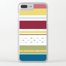 Arrows & Colours I Clear iPhone Case