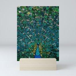 :: Peacock Caper :: Mini Art Print
