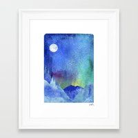 northern lights Framed Art Prints featuring Northern Lights by Ricardo Moody