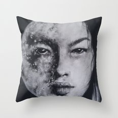 In All Her Phases Throw Pillow