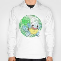 squirtle Hoodies featuring Squirtle by Mischievie