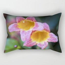 Tangerine Beauty Cross Vine Pair Rectangular Pillow