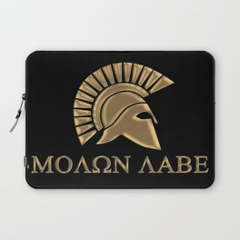Molon lave-Spartan Warrior Laptop Sleeve
