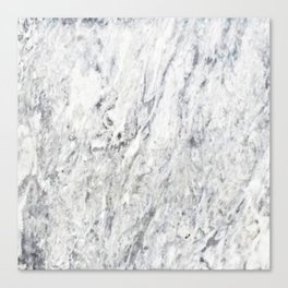 Vintage rustic gray white elegant marble Canvas Print