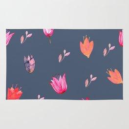 Spring Floral Pattern Rug