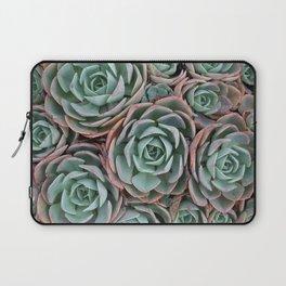 Pink & Green Succulent Garden Laptop Sleeve