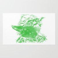 yoda Area & Throw Rugs featuring Yoda by DanielBergerDesign