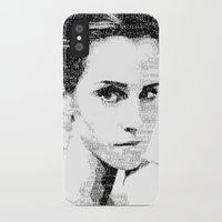 emma watson iPhone & iPod Cases featuring Emma Watson Typography by Christian Gholson