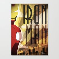 ironman Canvas Prints featuring Ironman by FreeBoy
