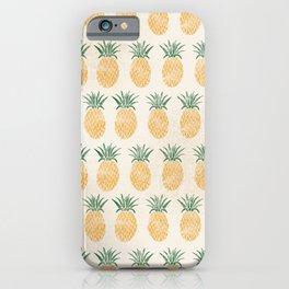 Pineapple Pattern iPhone Case