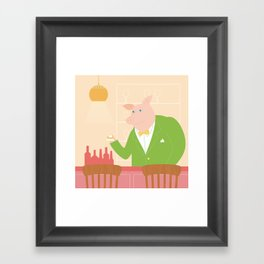 Pig's Bar Framed Art Print