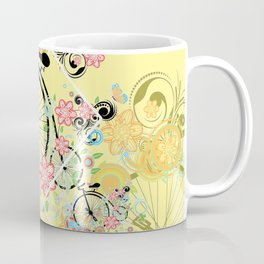 Bicycle with floral ornament Coffee Mug