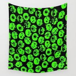 Just green skulls Wall Tapestry