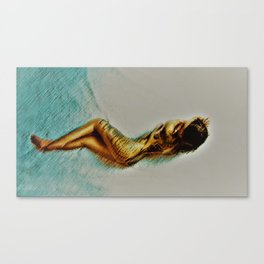 Tattoo You - First Woman Portrait - Jéanpaul Ferro Canvas Print