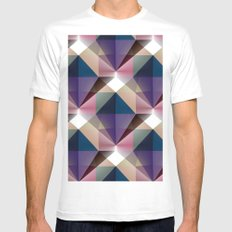 Facets 3 MEDIUM White Mens Fitted Tee
