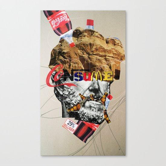 Consume head Canvas Print