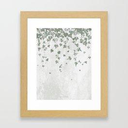 Gray Green Trailing Ivy Leaf Print Framed Art Print