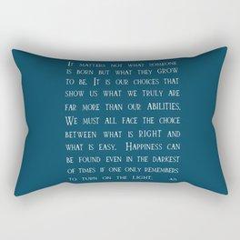 Dumbledore wise quotes Rectangular Pillow