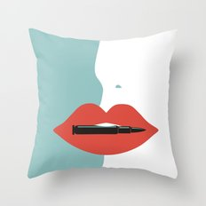 Bite the bullet Throw Pillow