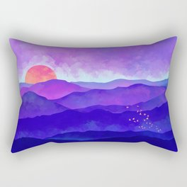 Indigo Peaks Rectangular Pillow