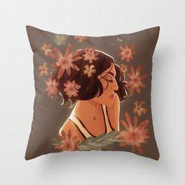roni + flowers Throw Pillow