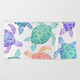 Sea Turtle - Colour Beach Towel